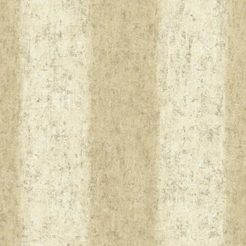 York Wallcoverings WT4529 Watercolors Batik Ogee Stripe Wallpaper, Beige/Cream/Brown