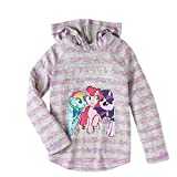 My Little Pony Equestria Girls' Long Sleeve Hacci Hoodie Top Sparkle and Shine (Large (10/12))