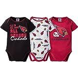 2017 Baby Boys Arizona Cardinals 3 Pack Bodysuits Size 6/12 Months