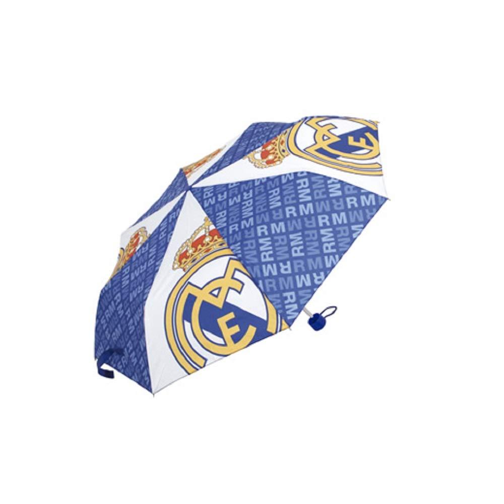 Paraguas Real Madrid Plegable Azul Marino Paraguas Oficial Real Madrid Plegable para Adulto