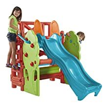 ECR4Kids Tree Top Climb and Slide Play Structure, Vibrant