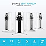 SANNCE (4) 960P HD WiFi Security IP Camera with iOS/Android App, Pan, Tilt, Zoom, 2-Way Audio, Motion Alerts, and Phone Push