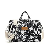 Canvaslife Black Coconut Trees Pattern 15 inch Waterproof Laptop Shoulder Messenger Bag Case with Rebound Bubble Protection for 14 inch-15.6 inch Laptop 15 Case Bag