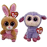 Ty Easter 2016 Beanie Boos Twinkle Toes the Ballerina bunny and Lavender the Purple Lamb by Ty Beanie Boos