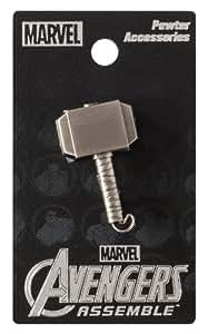 Marvel Thor Hammer Pewter Lapel Pin