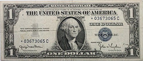 1935 *STAR* Note Series D Silver Certificate in Very Good (Silver Certificate Series)