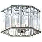 Dainolite Lighting ARU-154SF-PC  4-Light Crystal Semi Flush For Sale