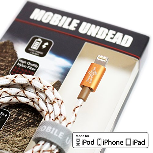Mobile Undead [Apple MFi Certified] Lightning to USB Cable - Nylon Braided Aluminum Housings 5 Feet for iPhone Xs XS Max XR X 8 8 Plus 7 7 Plus iPad Pro Air Mini iPod (Mummy)