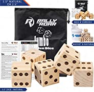Giant Dice Game Set for Adults, Kids, Families - Outdoor Wooden Dice Games Sets - Fun, Interactive Clean Famil