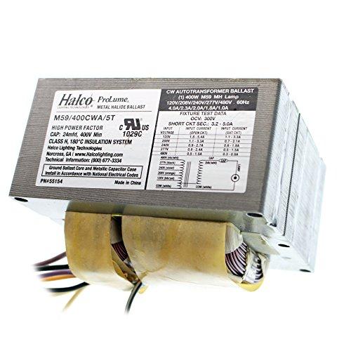 Multi 400w Tap Mh (Halco M59/400CWA/5T/K Metal Halide Ballast Kit, 400W M59, Mh, 120/240/277/480V)