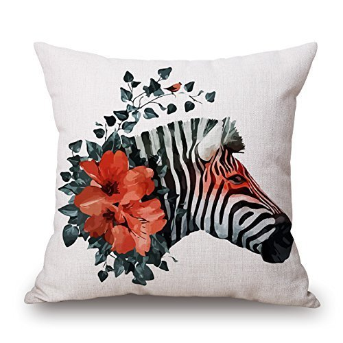 (Sophia Emma Cushion Cases of Zebra 18 x 18 Inches / 45 by 45 cm Best Fit for Boys Shop Deck Chair Home Office Office Lover Double Sides)