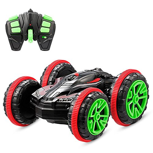 Gblife Rc Off Road Car Boat  2 4Ghz Remote Control Waterproof Double Sided Stunt Car  High Speed Racing Electric Vehicle  360 Degree Flips And Spins Truck For Land Water