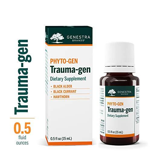 Hawthorn Herbal Supplement - Genestra Brands - Trauma-gen - Black Alder, Black Currant, and Hawthorn Herbal Supplement - 0.5 fl oz (15 ml)