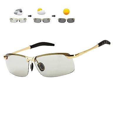 ARLTTH Fotocromáticas Gafas de sol para Hombre Polarizadas ...