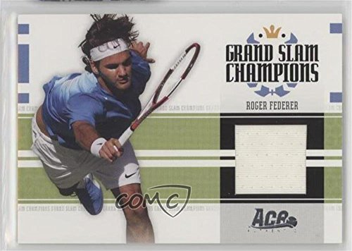 Roger Federer #241/500 (Trading Card) 2005 Ace Authentic Signature Series - Grand Slam Champions - Jerseys [Memorabilia] #GS-1