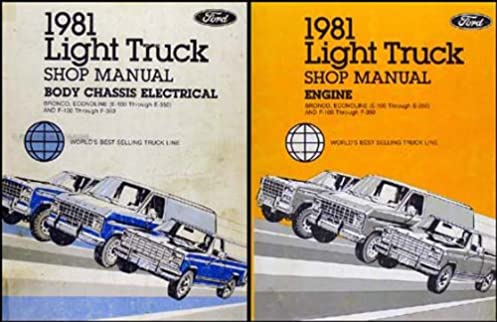 1981 ford truck repair shop manual f100 f150 f350 bronco econoline rh amazon com 1989 Ford F-150 1989 Ford F-150