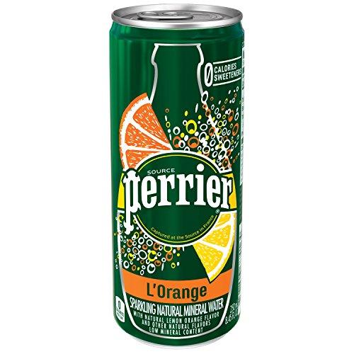Beverage Sparkling (Perrier L'Orange Flavored Carbonated Mineral Water (Lemon Orange Flavor), 8.45 fl oz. Slim Cans (30 Count))