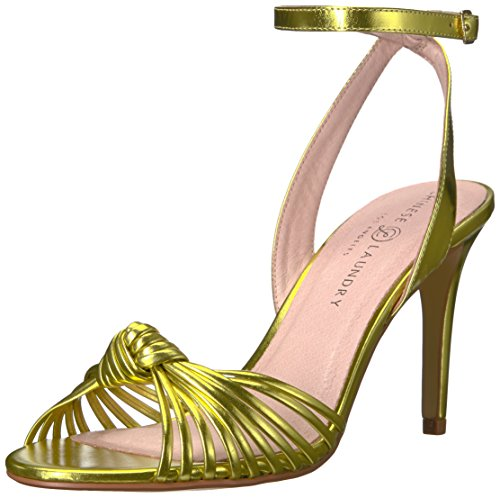 Metallic Gold Sandalen Laundry mit Frauen Chinese Absatz XYqEdd