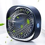 SmartDevil USB Ventilador de Escritorio, Mini Ventilador Eléctrico Portátil de Enfriamiento con 3 velocidades, Potente y Super Silencioso Ventilador Ideal para Oficina y Dormitorio de la Escuela (Azul)