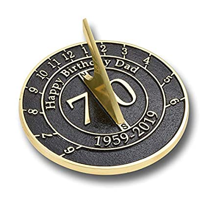 70th Birthday Gift For Dad Sundial The Best New Idea From A Son Or
