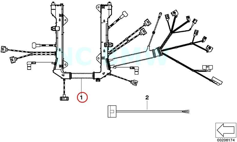 scamat engine wiring harness amazon com bmw genuine engine module engine wiring harness  engine module engine wiring harness