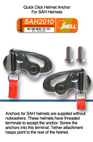 HANS Device Quick Click Helmet Attachment, fitting SAH Helmet ()