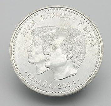 Desconocido Moneda de 12 Euros de Plata del Año 2004. Moneda Conmemorativa de la Boda del Rey Felipe y la Reina Leticia. Moneda colecionista. Moneda Coleccionable.: Amazon.es: Juguetes y juegos