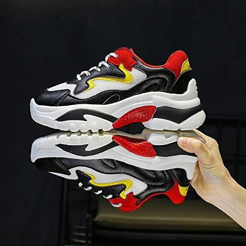 Red Viejos Mujer Cara Zapatos Ocasional La Transpirable Llama Femenino Harajuku Black De Estudiante Deportivo Yundongxienv Malla Calzado Salvaje Verano 7xHRUU