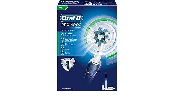 Oral-B PRO 4000 - Cepillo eléctrico recargable: Amazon.es: Salud y cuidado personal