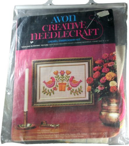 - Avon Creative Needlecraft Crewel Embroidery Kit Birds and Blossoms Picture