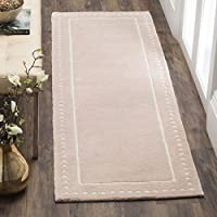 Safavieh Bella Collection BEL151M Handmade Light Pink and Ivory Premium Wool Runner (23 x 7)