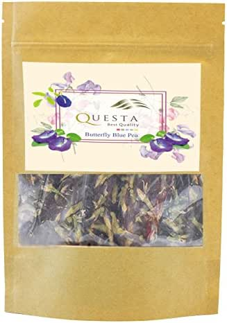 The Ultimate Herbal Tea Pea Flowers By Questa - Only Organic Dried Butterfly Flower - Excellent Quality Tea For The Brain & Body - Full Of Antioxidants To Enhance Memory & Ameliorate Skin Texture …
