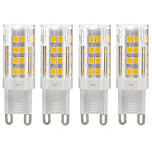 Dayker 5W G9 LED Silicone Caremic JD Type Lightbulb Warm White 360 Degree 51xSMD2835 Closet Accent Lighting Replacement for 45W Halogen(4 Pack)