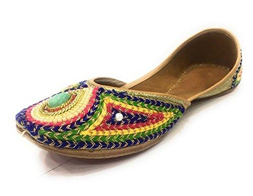 Shoes Flat Style Jutti Mojari n Ethnic Khussa Ballet Punjabi Women Ballerina Step 6SqAx8On