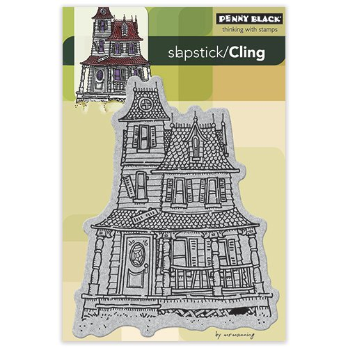 Penny Black 40-146 Haunted House Cling Rubber - House Haunted Paper