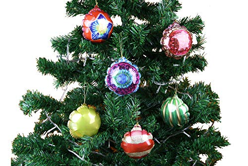"""(6pcs Self-Inflating Balloon Decoration Hanging Ornaments/Pendants for Christmas/Holiday Tree 3.1"""" (8cm), Assorted)"""