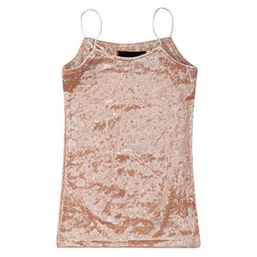 Velvet Camisole Dress (Baby Girl Child Spaghetti Strap Party Velvet Mini Slip Dress Vintage Skirt Pink 3-4T)