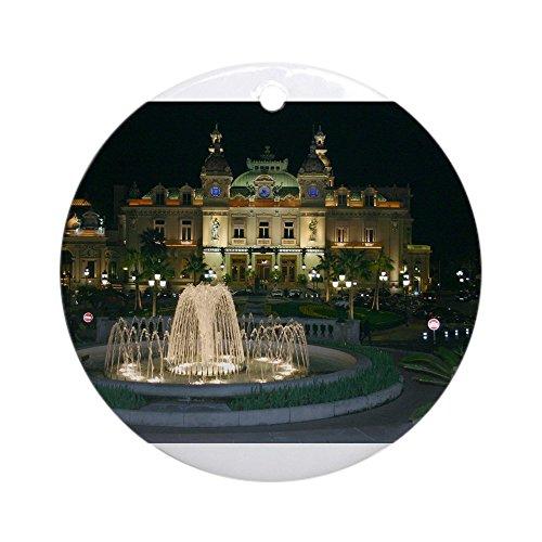 CafePress Monte Carlo Casino at Night Ornament (Round)