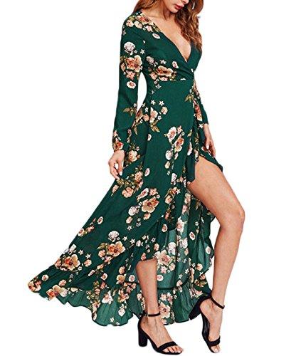 floral asymmetrical maxi dress - 4