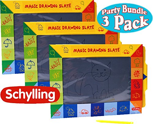 (Schylling Magic Slate Drawing Pads Party Pack Bundle - by Schylling)