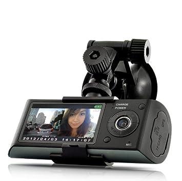 Doble cámara de coche DVR Caja Negra con situador GPS y G-Sensor: Amazon.es: Electrónica