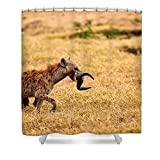 Pixels Shower Curtain (74'' x 71'') ''Hungry Hyena''