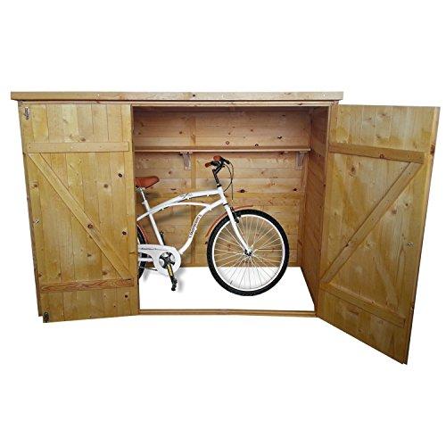 Geräteschuppen Fahrrad Box - 205x87x151 cm (BxTxH) - mit Doppeltür - lackiertes Massivholz - hier hat alles seinen Platz