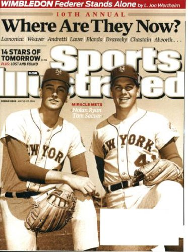 Sports Illustrated July 13 2009 Nolan Ryan & Tom Seaver/New York Yankees on Cover, Where Are They Now Issue, Roger Federer/Wimbledon, Albert Pujols/St. Louis Cardinals, What's Next for Michael Vick, Steve McNair's Mysterious Death