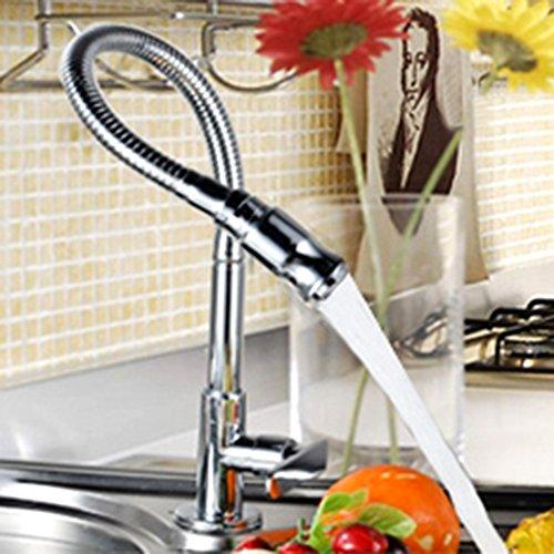 llave de la cocina, moderno Barra de cocina llave mezclador monomando para fregadero caño giratorio de 360grados agua...