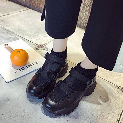 Zapatos Deportivos de Estudiantes Los Deportivo Calzoncillos Malla negro Todos para para EUR37 de Calzado Sueltos Mujer Suela Zapatos rrqvx0d