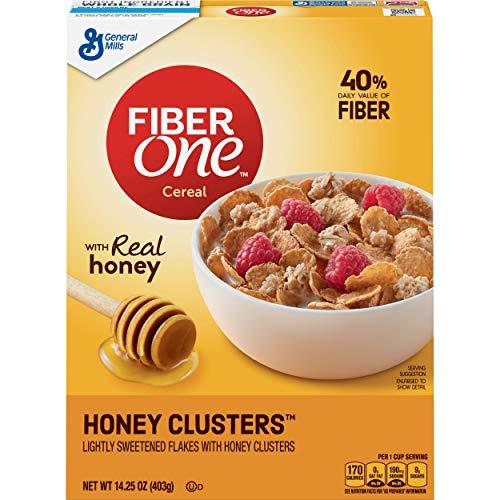 General Mills Fiber One Cereal, Honey Cluster's, 14.25 Ounce (Best High Fiber Cereal)
