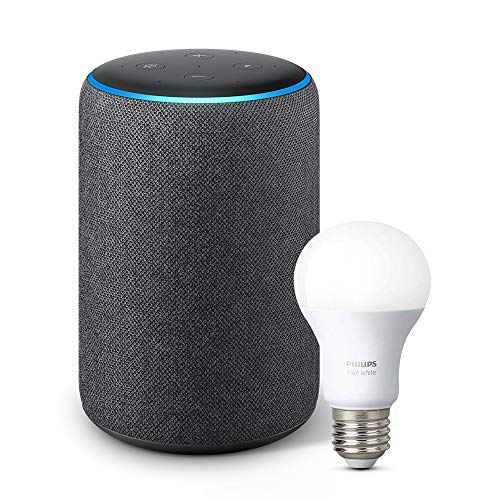All-new Echo Plus (2nd Gen) Bundle with Philips Hue Bulb – Charcoal
