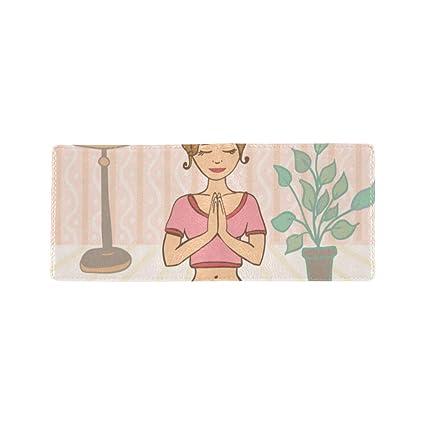 Yoga Dibujos Animados Niña Saludable Tarjeta de Visita ...