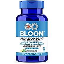 VEGAN OMEGA 3 - Better Than Fish Oil! Plant Based, Algae DHA EPA DPA Supplement. Supports Heart, Brain, Joint, Prenatal & Immune System. No Carrageenan. Natural Lemon Flavor, 60 Vegetarian Capsules